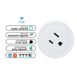 1 x Wifi Smart Plug Outlet Remote Control US Socket Work wit
