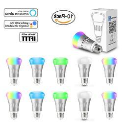 10 Pack WiFi Smart Light Bulb Bulbs Dimmable LED E27 W/ Goog