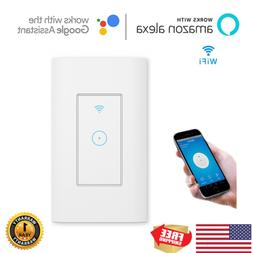 110V Home Wall Touch Smart Wifi Light Switch For Alexa Googl