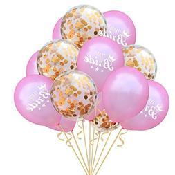 Liping 15PCS 12'' Confetti Foil Helium Confetti Birthday