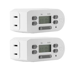 myTouchSmart 2-Pack Indoor Digital Plug-in Timer, 1 Outlet P