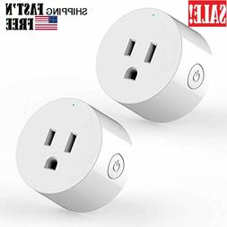 2 Pack WiFi Plug, Compatible with Alexa and Google Home, IFT