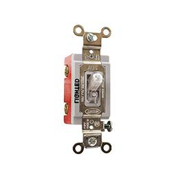 Hubbell 20A Illuminated Toggle Switches HBL1221ILC Red 120-2