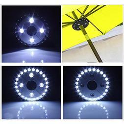LiPing 28 LED PatioPatio Umbrella Light 3 Brightness Mode Co