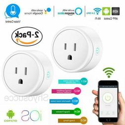 2x Wifi Smart Plug Outlet Remote Control US Socket Work with