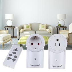 3 Pack Wireless Remote Control Outlet Electrical Power Light