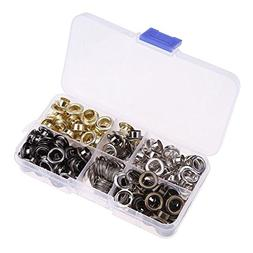 35 Sets 8mm Silver Gold Eyelet Set Shoes Belt Leather Hole C