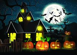 LiPing 3D Halloween Backdrops Pumpkin Theme Photography Back