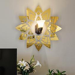 LiPing 3D Mirror Flowers DIY Room Decoration Vinyl Wall Stic