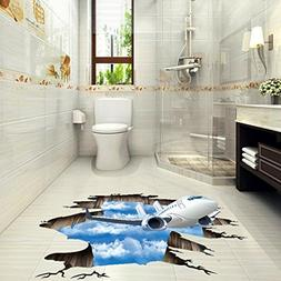 LtrottedJ 3D Stream Floor Wall Sticker Removable Mural Decal