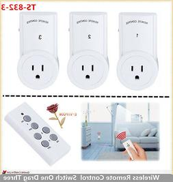 3Lots Socket Home Plug Wireless Remote Control Power Socket