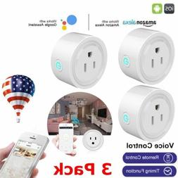 3PCS Smart Mini WiFi Plug Outlet Switch Work With Echo Alexa