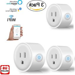 3x Smart Mini WiFi Plug Outlet Switch work with Echo Alexa G