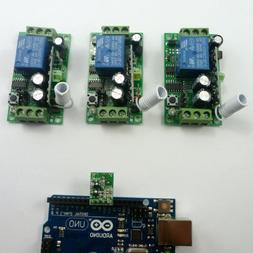 433M DC12V 3ch Arduino RF Relay Control USB UART RS232 Home
