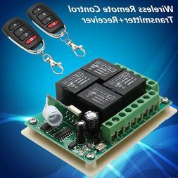 433Mhz DC 12V 4CH Channel Wireless Remote Control Switch Rec