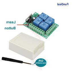 433Mhz Universal Wireless RF Remote Control Switch DC 12V 4