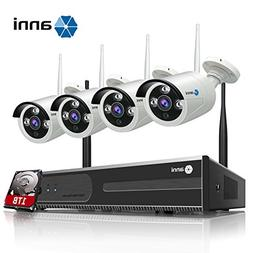 anni 4CH 720P HD Wireless Security CCTV Surveillance Camera,