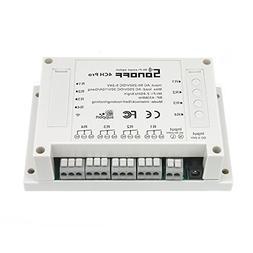 Sonoff 4CH Pro Wi-Fi Smart Switch 4-Gang Din Rail Mounting H