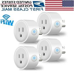 4PACK Smart Plug WiFi Home Outlet for Electric Devices Googl