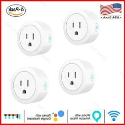 4x Wifi Smart Plug Remote Control Socket Outlet Switch w/Ale
