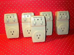 5 uxcell AC 120V 10A US Plug Outlet Wireless Remote Control