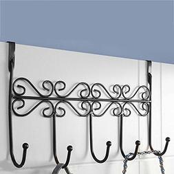 5 Door Hooks Home Bathroom Kitchen Organizer Hat Towel Hange
