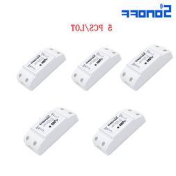 5 PCS/lot Sonoff Wifi Smart Switch Module Remote Wireless Re