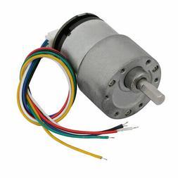 520B 333 RPM DC12V DC 6mm Dia Shaft Brushed Gear Box Motor w