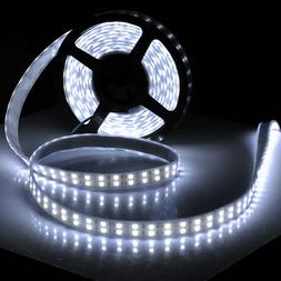 5M 16.4ft 12V SMD White 5050 IP67 Waterproof 600 LED Double