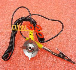 5PCS Anti-Static Coil Cable Anti Static ESD Mats Grounding Point Cord