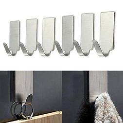 6 stainless steel utility hooks