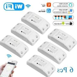 6pcs Wifi Smart Switch for Home Automation, Amazon Alexa & G