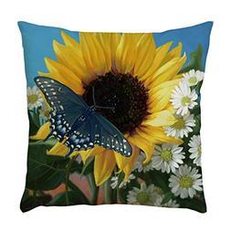 LiPing 17.7x17.7in/45x45cm Fashion Sunflower Series Pattern