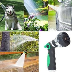 LiPing 8 Adjustable Watering Patterns,water hose nozzle, Hig