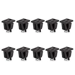 DIYhz 10Pcs Black Environmental protection UL 3 Pins Power S