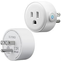 GMYLE Wifi Smart Plug Mini Outlet Power Control Socket, Remo