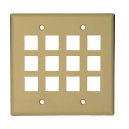 Legrand - On-Q WP3212IV 2Gang, 12Port Wall Plate, Ivory