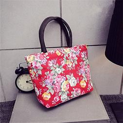 Lunch Bags Floral Printed for Women Thermal Food Picnic Bags