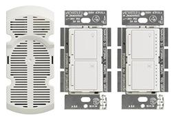 Lutron MA-LFQ3-WH Maestro Multi-Location Fan Control Kit, Wh