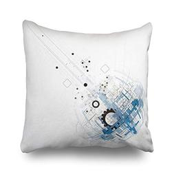NOWCustom Throw Pillow Covers Futuristic Technology Style Bu