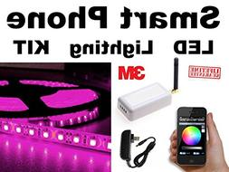 PURPLE - - SmartPhone WiFi controlled LED Lights works with