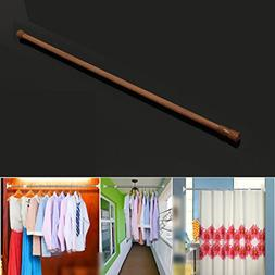 Shower Curtain Rail Pole Rod 60-110cm Spring Loaded Telescop
