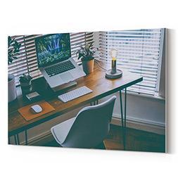 Westlake Art - Desk Window - 12x18 Canvas Print Wall Art - C