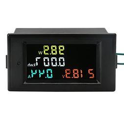AC Power Meter, DROK AC 80-300V 100A Voltage Current Color L