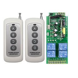 Lejin AC85v ~ 250V 110V 230V 4CH 4 Channel Radio Remote Cont