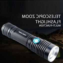LiPing Aluminum Alloy Outdoor Portable Zoomable Flashlight X