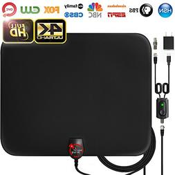 Amplified HD Digital TV Antenna Long 60 Miles Range – Sup