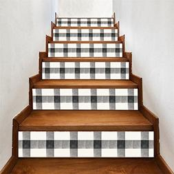 LiPing 6PCS Artistic atmosphere Self-adhesive Stairs Tile Ri