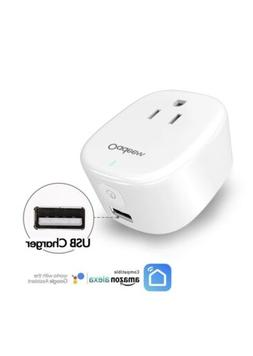 2in1 Smart Home Automation WiFi Smart Plug Compatible with A