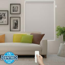 Beige Home Automation Motorized Roller Blind Electric Roller
